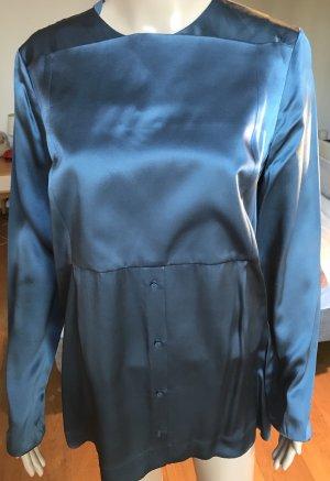 Elegante petrol farbene Bluse von COS Größe 40, toller Schnitt, Seide