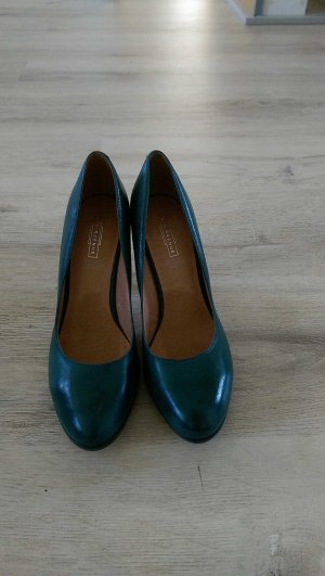 Elegante petrolfarbene High Heels