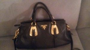 elegante PRADA-Ledertasche schwarz