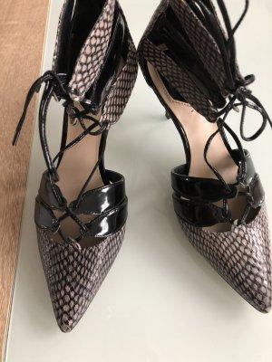 Elegante Pumps aus echtem Leder mit Reißverschluss