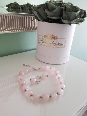 Collar estilo collier gris claro-rosa empolvado