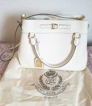Elegante Ralph Lauren Lederhandtasche, weiß