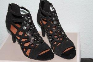 Elegante Riehmchen Sandalette Gr.37 schwarz, NEU 7,5cm Absatz*Trend*