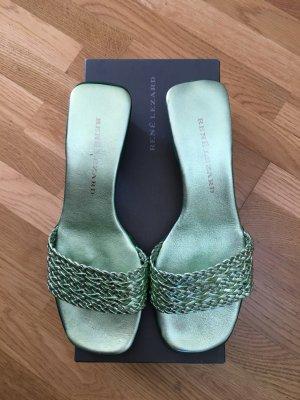 René Lezard Sandals lime-green