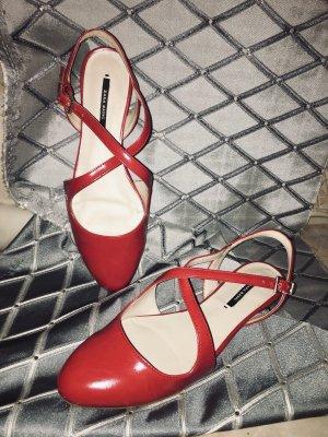 Zara Sandale d'extérieur rouge