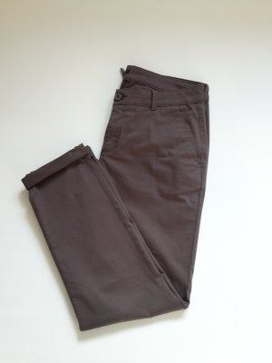 Elegante Satin Chino von comma Taupe