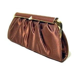 Elegante Satin-Clutch Abendtasche mit goldener Tragekette