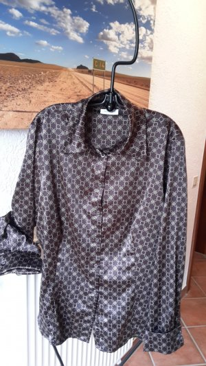 Yessica Blouse brillante brun foncé-doré polyester