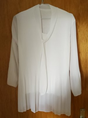 Tie-neck Blouse white polyester