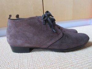 Homers Lace Shoes cognac-coloured-brown suede