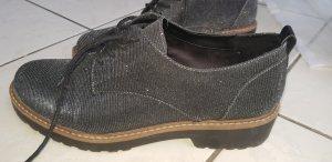 Catwalk Zapatos Budapest gris oscuro-negro Imitación de cuero