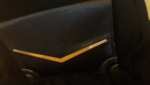 New Look Clutch black-gold-colored
