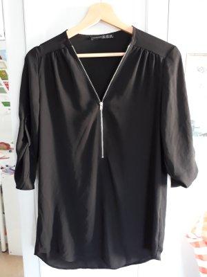 Elegante schwarze Bluse