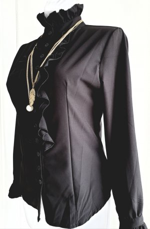 Stand-Up Collar Blouse black