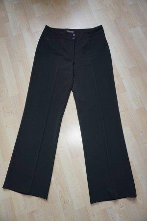 Elegante schwarze Bundfaltenose mit Stretch  Gr.40/34 - neuwertig!