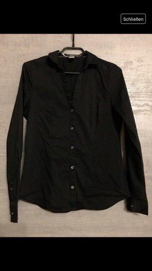 Elegante schwarze Business Bluse