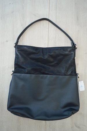 Elegante schwarze Henkeltasche von Esprit in schwarz aus Kunstleder