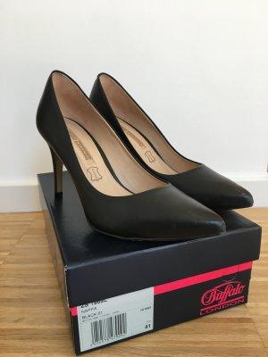 Elegante schwarze High Heel - Leder - Gr. 41