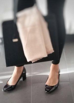 Elegante schwarze Hochglanz-Damenpumps