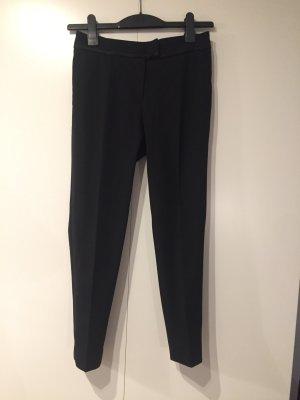 elegante schwarze Hose/ Anzughose mit Kontrasborte