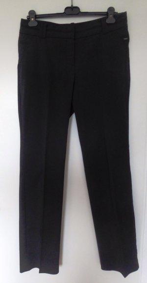 Elegante, schwarze Hose, gerader Schnitt
