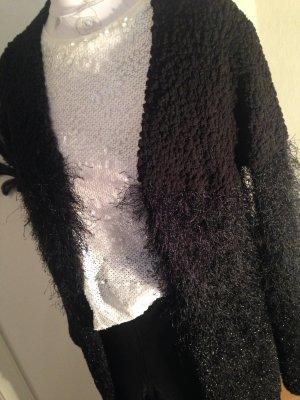 elegante schwarze kuschelige Strickjacke - Intimissimi, Größe S
