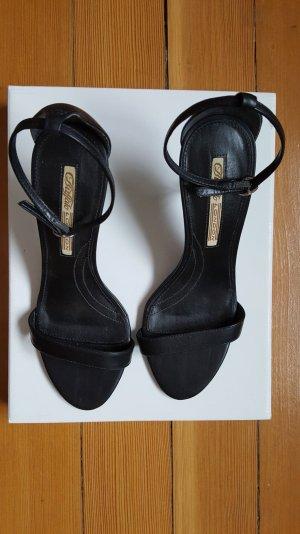 Elegante schwarze Riemchen Sandaletten von Buffalo Gr. 38 Stiletto 8 cm Absatz