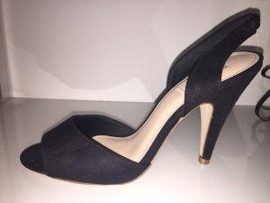Elegante schwarze Sandalen in 39