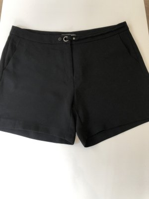 Esprit High-Waist-Shorts black-silver-colored polyester