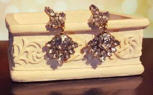 Elegante silber Ohrringe, bronze, altgold, Hänger, Blogger, Vintage, Zara, Neu
