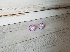 Zarcillo color plata-púrpura