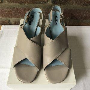 Studio pollini Sandale d'extérieur gris brun-bleu clair cuir