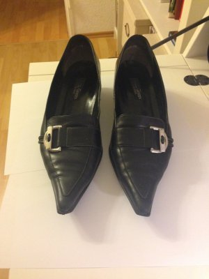 Paul Green Slippers black leather