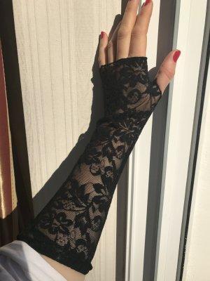 Elegante Spitzen Arm Stulpen mit Stretch Anteil