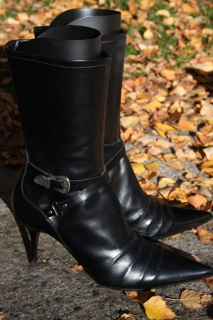 Elegante Stiefel, Stiefelette, Schwarz, Vero Cuoio, Größe 41, Nagelneu