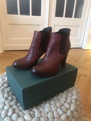 Alberto Fermani Platform Booties bordeaux