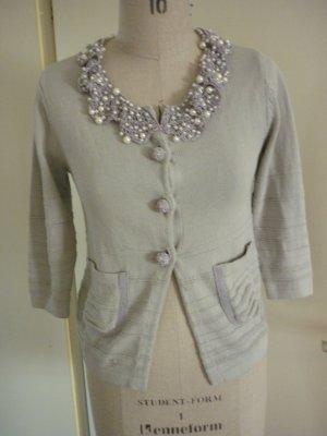 elegante Strickjacke mit Perlen