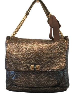 elegante Tasche von Lanvin in anthrazit - silber - gold