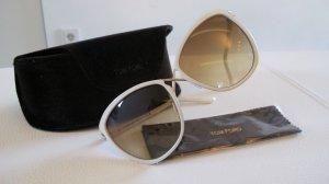 Elegante TOM FORD Sonnenbrille creme - Wie Neu NP 355,-€
