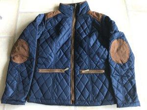 Elegante trendige Steppjacke in Blau Cognac Jacke blau Gr. 36 S bpc Selection