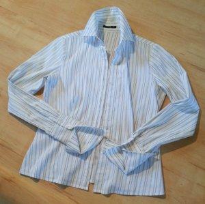 elegante, weiß-blau gestreifte Bluse von COMMA für Business Büro | 1A Zustand