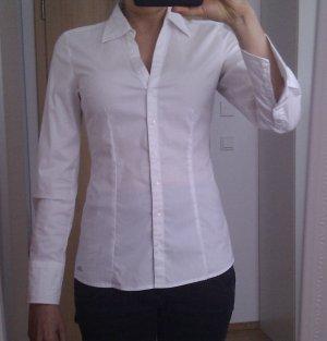 Elegante weiße, feminine Bluse