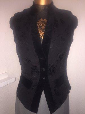 Vest black mixture fibre