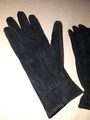 elegante Wildlederhandschuhe schwarz