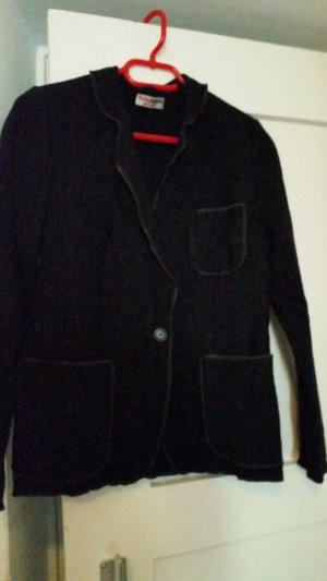 Chaqueta para exteriores negro lana de alpaca