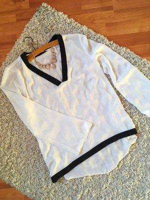 Elegante ZARA Bluse schwarz weiß