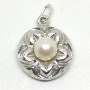 eleganter Anhänger 835 Silber mit Perle Juwelierstück Meisterpunze  echt Schmuck