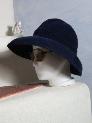 Vintage Zachte hoed blauw