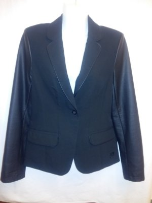 Rock angel Blazer in pelle nero Finta pelle