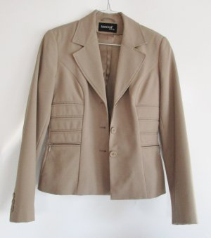 Eleganter Blazer Laura Scott Woman Größe XS 34 Beige Nude Jacket Business Taille Biesen